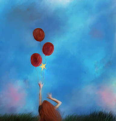 Digital Art - Letting Go by Hazel Billingsley
