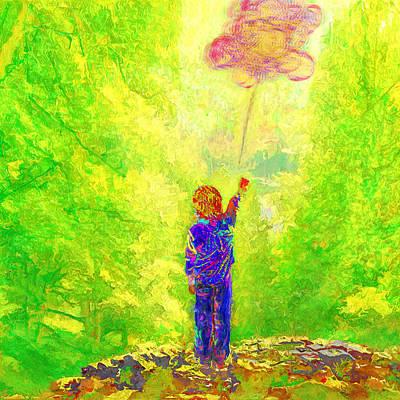 Letting Go... Looking Forward... Art Print by Lee Haxton