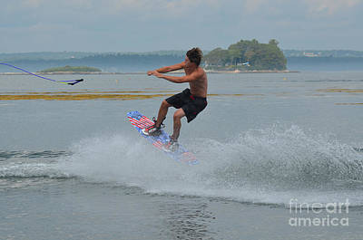 Wakeboarder Photograph - Letting Go Of The Tow Rope by DejaVu Designs
