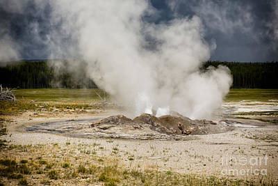 Photograph - Letting Off Steam - Yellowstone by Belinda Greb