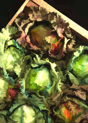 Romaine Painting - Lettuce Entertain You by Elaine Plesser