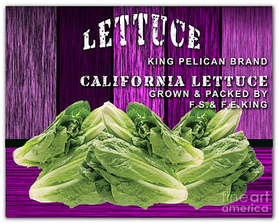 Lettuce Mixed Media - Lettuce Farm by Marvin Blaine