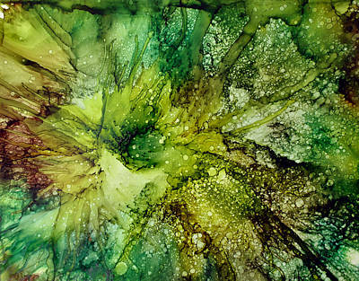 Painting - Lettuce Flower by Kathy Sheeran