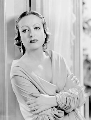 Chandelier Earrings Photograph - Letty Lynton, Joan Crawford, 1932 by Everett