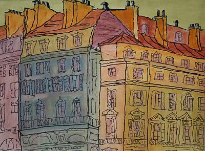 L'europe  Art Print by Oscar Penalber