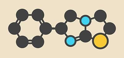 Levamisole Antihelmintic Drug Molecule Art Print