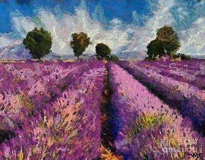 France Painting - Levender by Dragica  Micki Fortuna