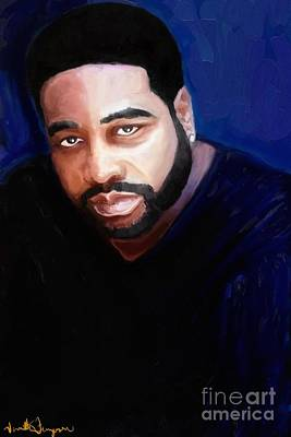 Art Print featuring the painting Levert by Vannetta Ferguson