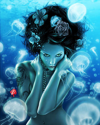 Leviathan Art Print by Pete Tapang
