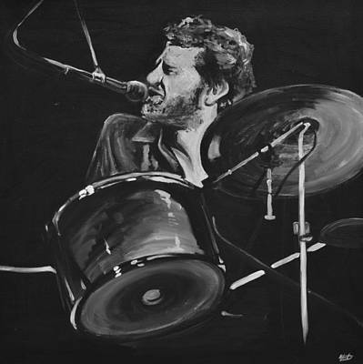Levon Helm At Drums Art Print by Melissa O'Brien
