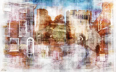 Lewes Castle Sussex Art Print by Mark Preston