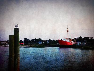 Lewes - Overfalls Lightship 2 Art Print