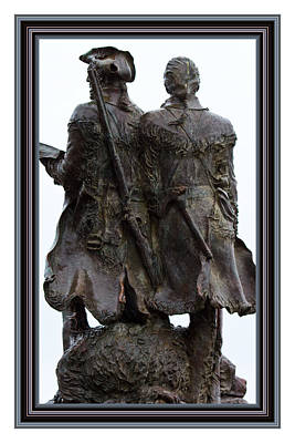 Photograph - Lewis And Clark Bronze Statue by Marie Jamieson