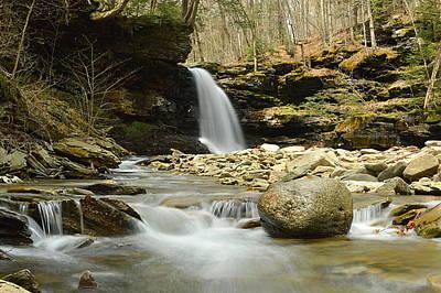 Photograph - Lewis Falls #1 by Joel E Blyler