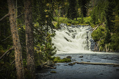 Photograph - Lewis Falls In Yellowstone by Randall Nyhof