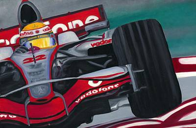 Lewis Hamilton F1 World Champion 2008 Art Print