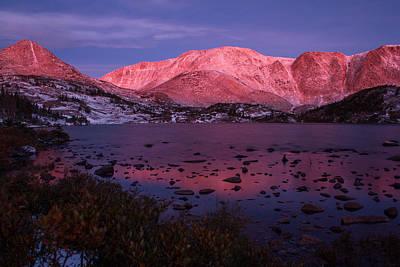 Photograph - Lewis Lake Sunrise by Angelique Rea