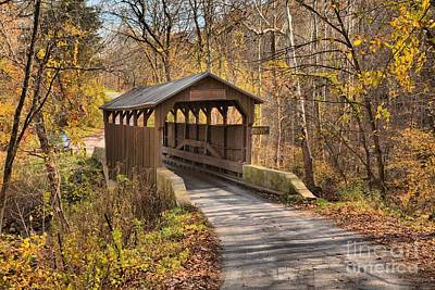 Photograph - Lewisburg West Virginia Covered Bridge by Adam Jewell