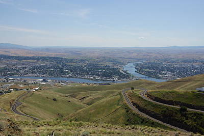 Photograph - Lewiston Idaho And Clarkston Washington by Ron Roberts