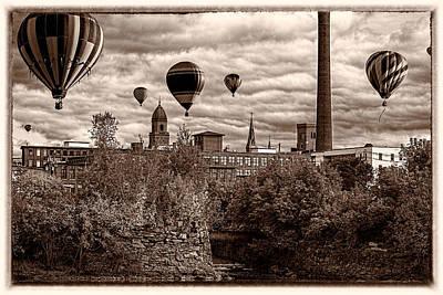 Photograph - Lewiston Maine Hot Air Balloons by Bob Orsillo