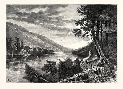 Lewistown Narrows Print by John Augustus Hows (1832-1874), American