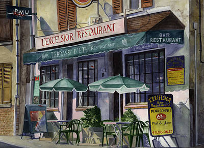 L'excelsior Cafe Art Print by Terri  Meyer