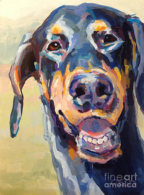 Doberman Painting - Lexi by Kimberly Santini