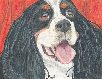 Art Print featuring the drawing Lexie by Arlene Crafton