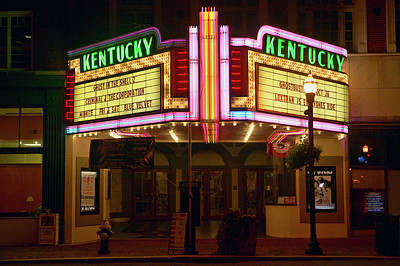 Lexington Photograph - Lexington Kentucky Neon Marquee Sign by Panoramic Images