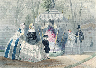 Aviary Photograph - Lexposition Dhorticulture, From Journal Les Modes Parisiennes, Printed In Paris Colour Engraving by Francois Claudius Compte-Calix