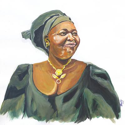 Leymah Gbowee Art Print by Emmanuel Baliyanga