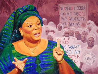 Nobel Peace Prize Painting - Leymah Gbowee by Steve Simon