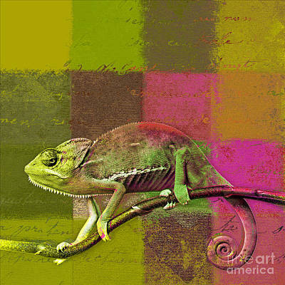 Animals Digital Art - Lezardin - J131131149v5bgrp by Variance Collections