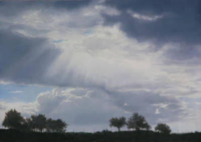 Oil Painting - Lezignan Sky 116x81cm by Thomas Darnell