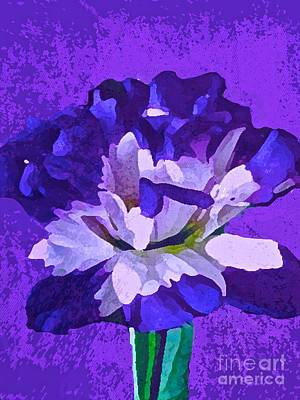 Painting - Feeling So Blue Floral by Saundra Myles