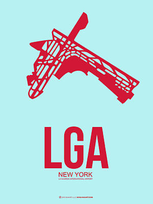 New York Mixed Media - Lga New York Airport 2 by Naxart Studio