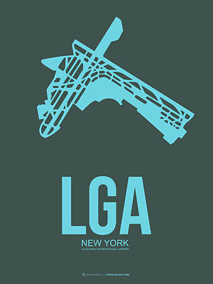 New York Mixed Media - Lga New York Airport 3 by Naxart Studio