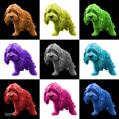 Painting - Lhasa Apso Pop Art - 5331 - V1 - M by James Ahn