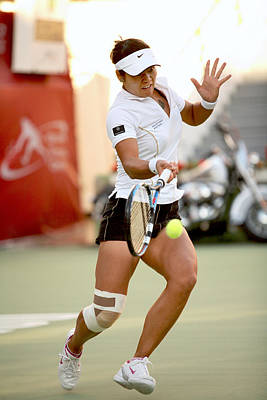 Li Na Photograph - Li Na In Doha by Paul Cowan