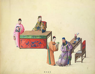 Illustration Technique Photograph - Li Po Going To A Foreign Land by British Library