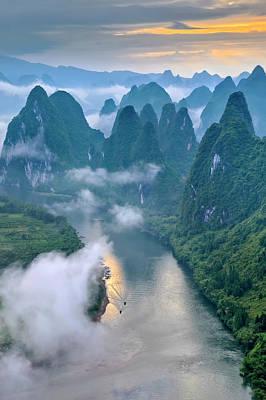 China Wall Art - Photograph - Li River by Hua Zhu