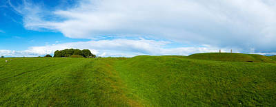 Tara Photograph - Lia Fail Stone On A Hill, Hill Of Tara by Panoramic Images