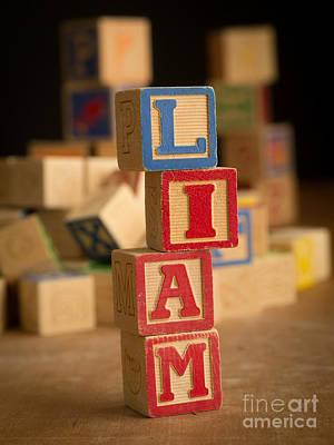 Liam Photograph - Liam - Alphabet Blocks by Edward Fielding