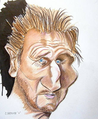 Drawing - Liam Neeson by Chris Benice