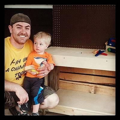 Photograph - Liam's New Workbench By Daddy by Amanda Hueston