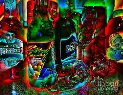 Art Print featuring the photograph Libations by Linda Bianic