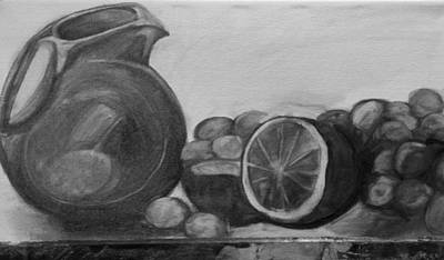 Painting - Libations Bw by Debbie Frame Weibler