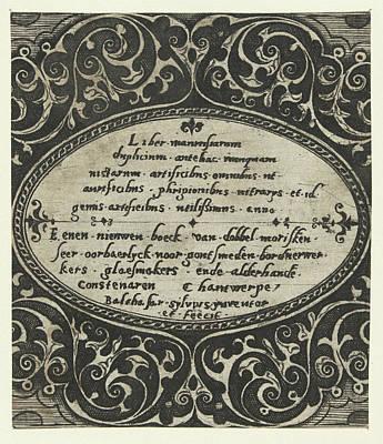 Liber Maurusiarum Duplicium, Print Maker Balthazar Van Den Art Print