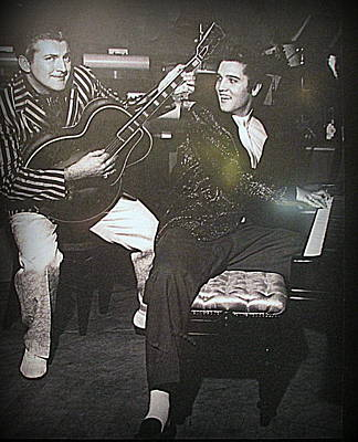 Photograph - Liberace And Elvis by Kay Novy
