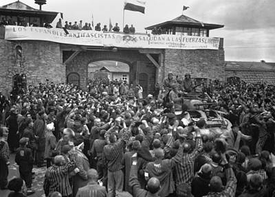 Liberated Prisoners In The Mauthausen Art Print by Everett